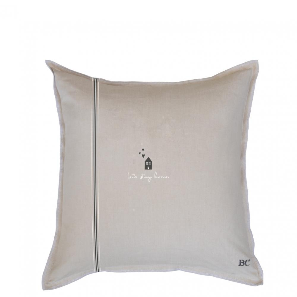 Cushion 50x50 Naturel Chambray Let's Stay Home