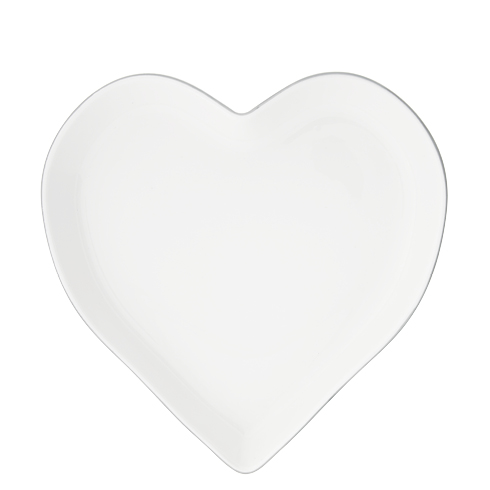 Tray Heart 22cm x 3,5cm with Grey edge