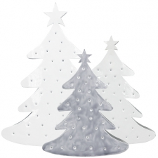Tree emaille Ass(4xM White/2xGrey&2xWhite)25/33cm