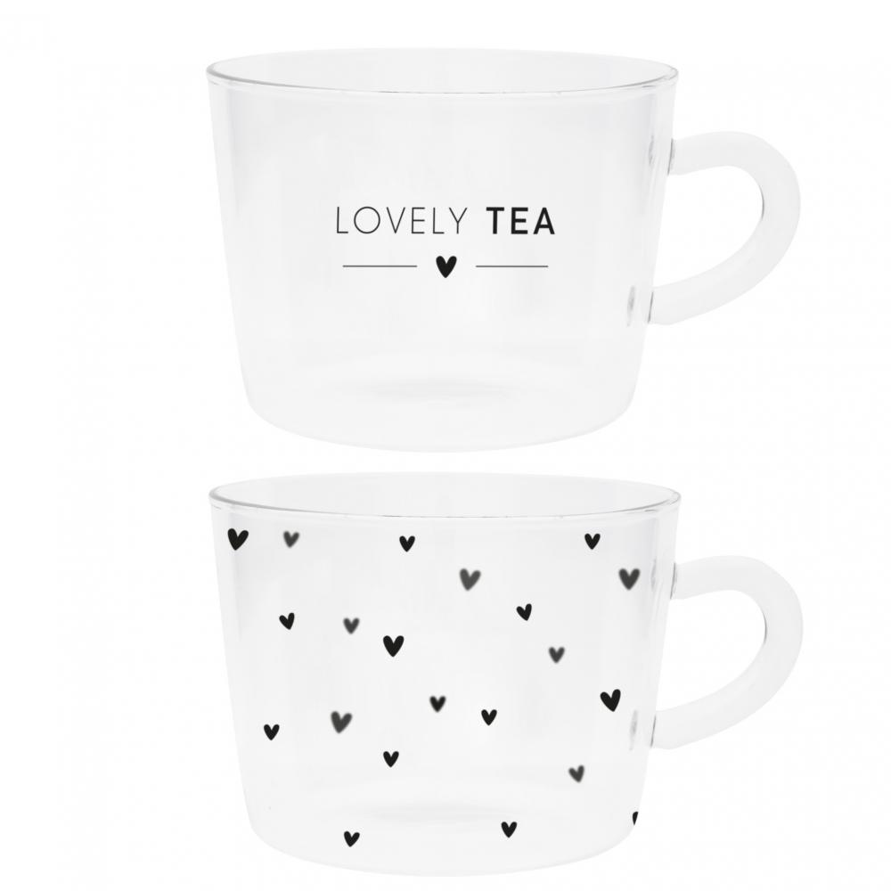 Tumbler Tea (lovely tea/hearts) 10x7cm