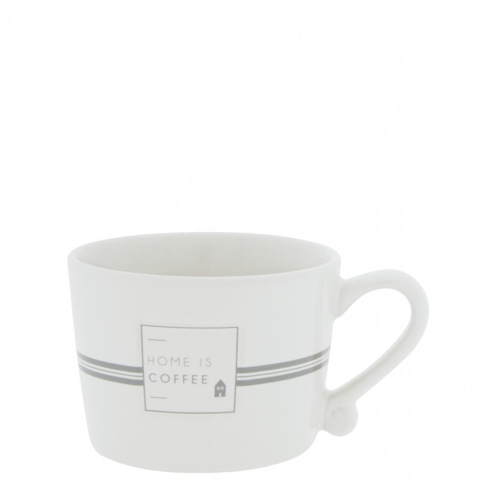 Cup White sm / Home is Coffee Grey 8.5x7x6cm