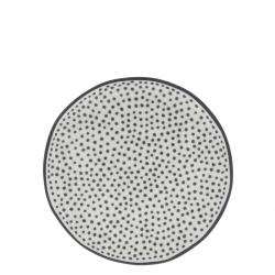 Cake Plate 16cm White/ Little Dots in Bla
