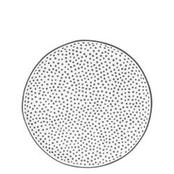 Dessert Plate 19 cm white / little dots in black